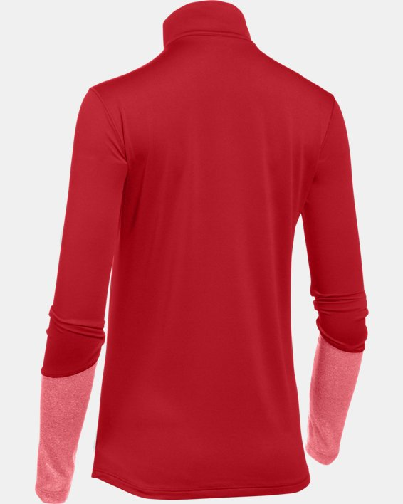 Women's UA Locker ½ Zip, Red, pdpMainDesktop image number 6