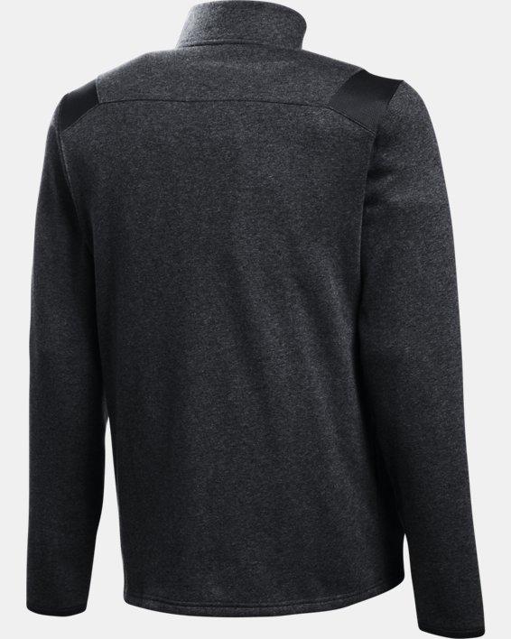 Men's UA Hustle Fleece ¼ Zip, Black, pdpMainDesktop image number 6