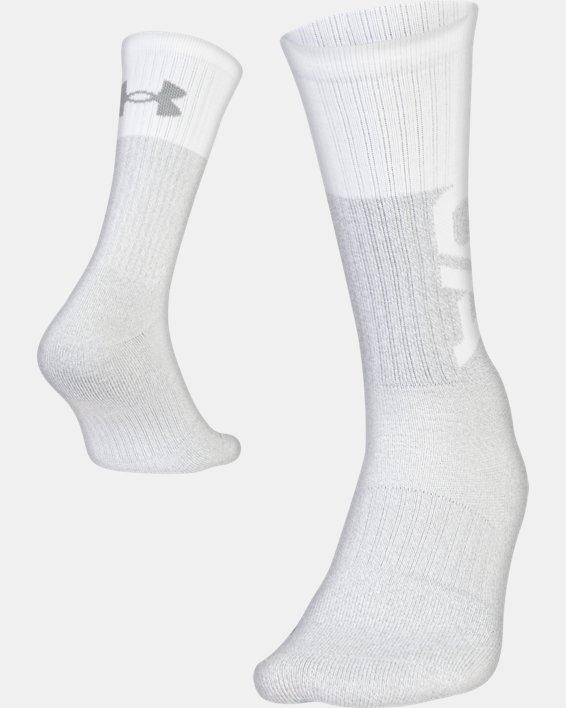 UA Phenom 3.0 Crew – 3-Pack Socks, Red, pdpMainDesktop image number 4