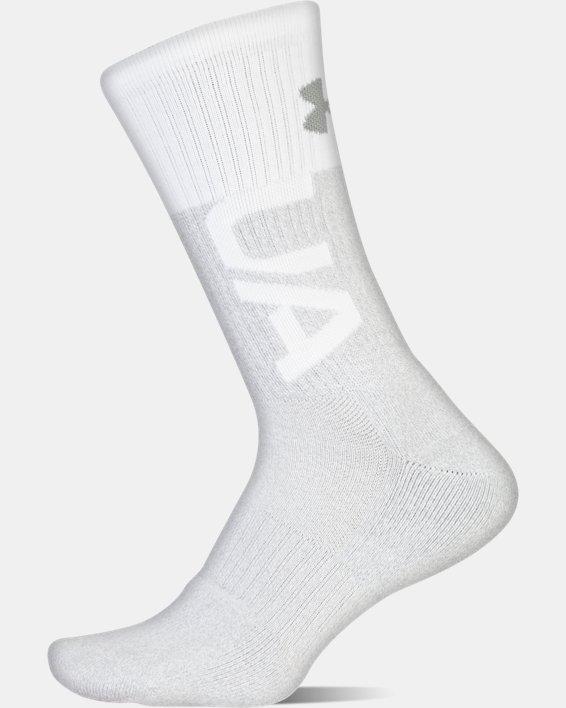 UA Phenom 3.0 Crew – 3-Pack Socks, Red, pdpMainDesktop image number 2