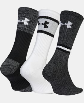 New Arrival  Men's UA Phenom Twisted 2.0 Crew Socks   1  Color Available $25