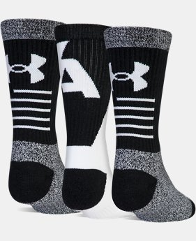 New to Outlet Youth UA Phenom 3.0 Crew – 3-Pack Socks  1  Color Available $11.4