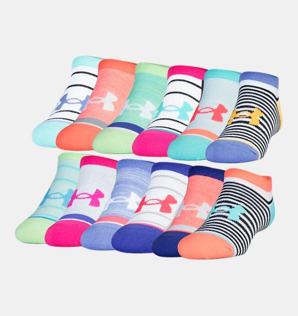 79f6063828 Girls' UA Essentials Mix Masters No-Show Socks