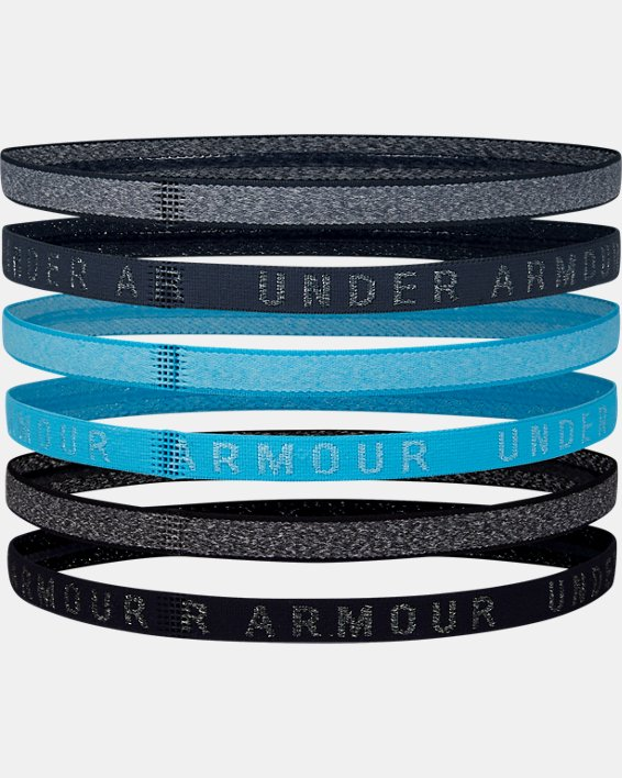 Women's UA Heathered Mini Headbands - 6 Pack, Blue, pdpMainDesktop image number 1