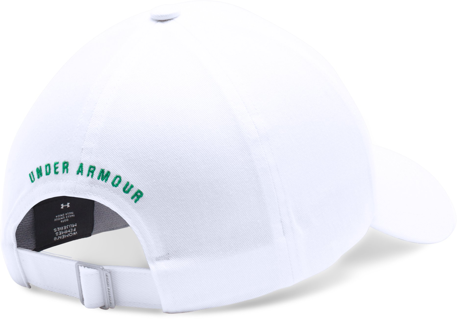Women's UA St. Paddy's Armour Cap, White,