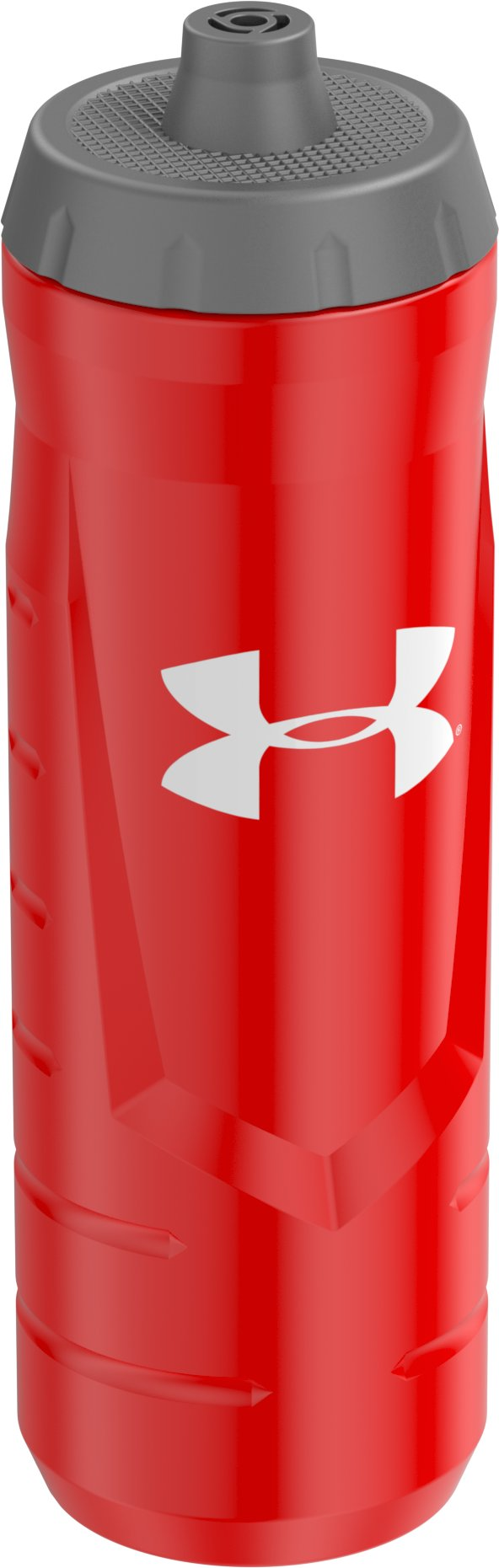 UA Sideline 32 oz. Squeeze Bottle, Red,