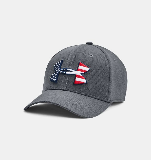 Men's UA Big Flag Logo 2.0 Cap, Pitch Gray, , Pitch Gray, Click to view full size