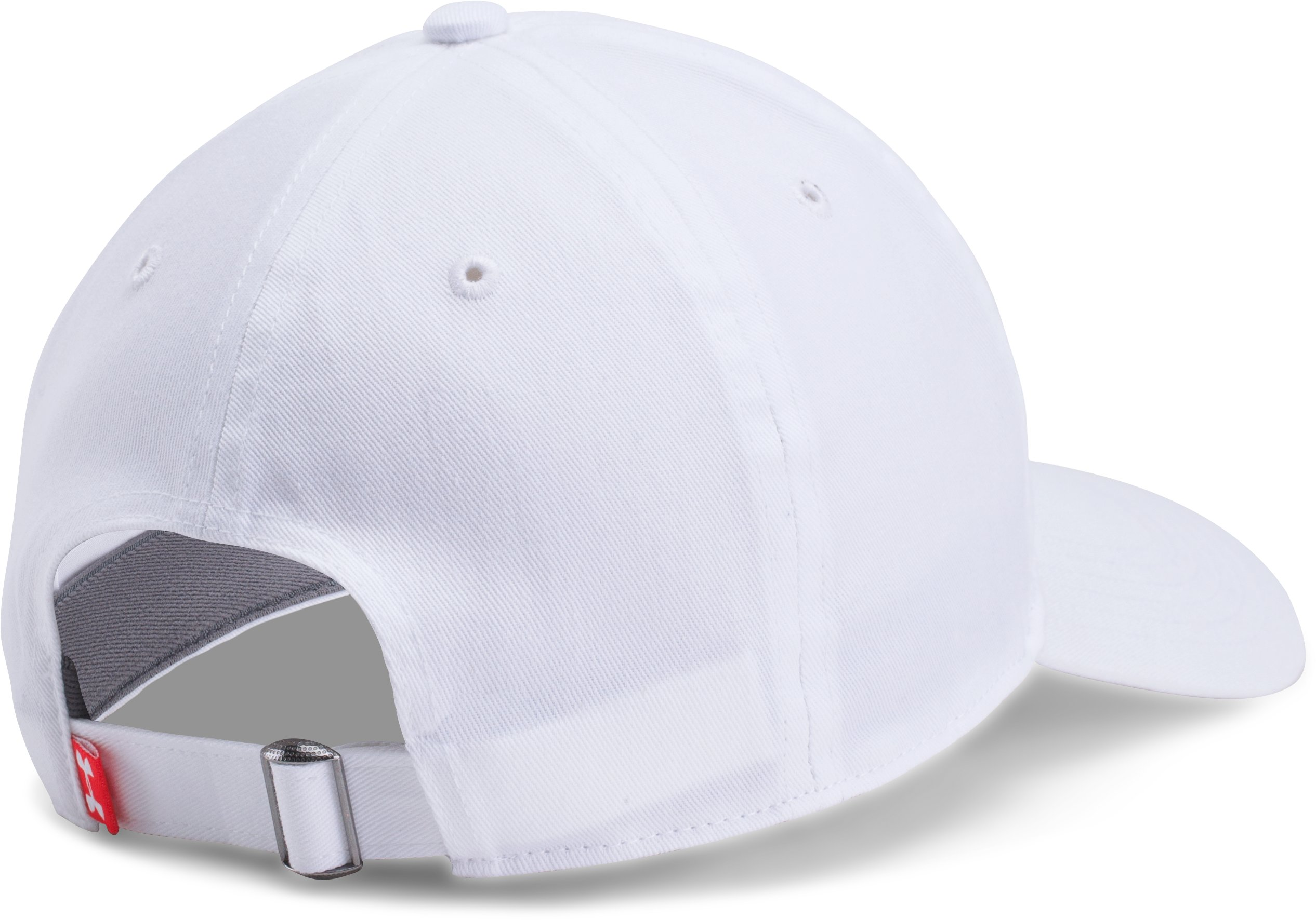 Men's UA Micro Logo Dad Cap, White, undefined