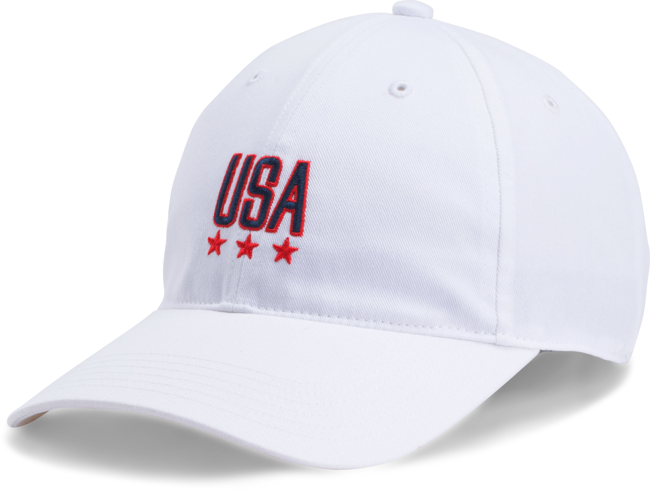 Men's UA Micro Logo Dad Cap, White