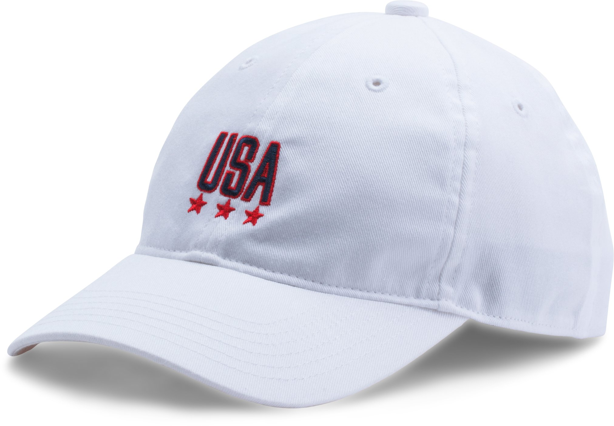 Boy's Micro Logo Dad Cap, White