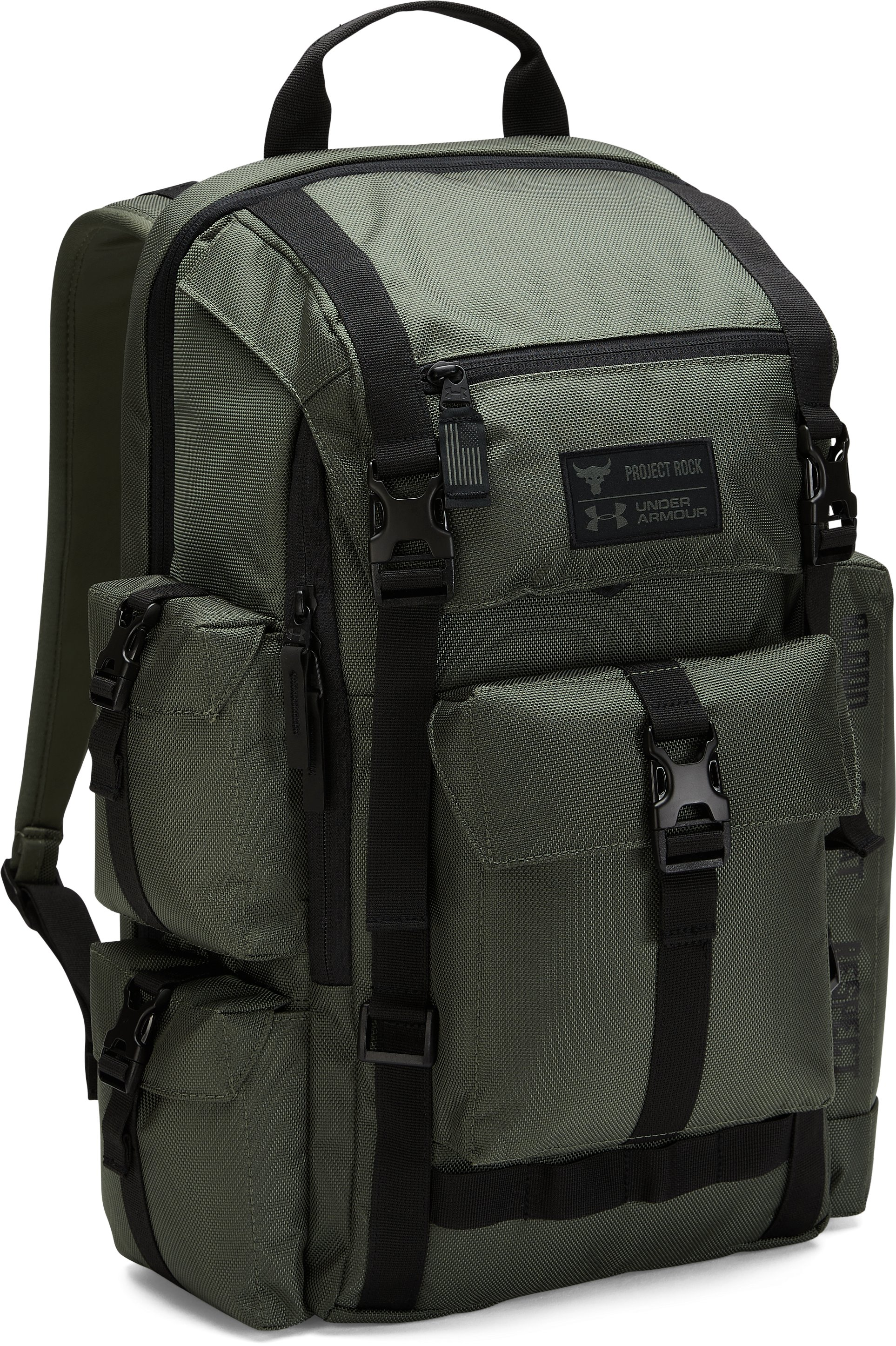 UA x Project Rock USDNA Regiment Backpack, DOWNTOWN GREEN,