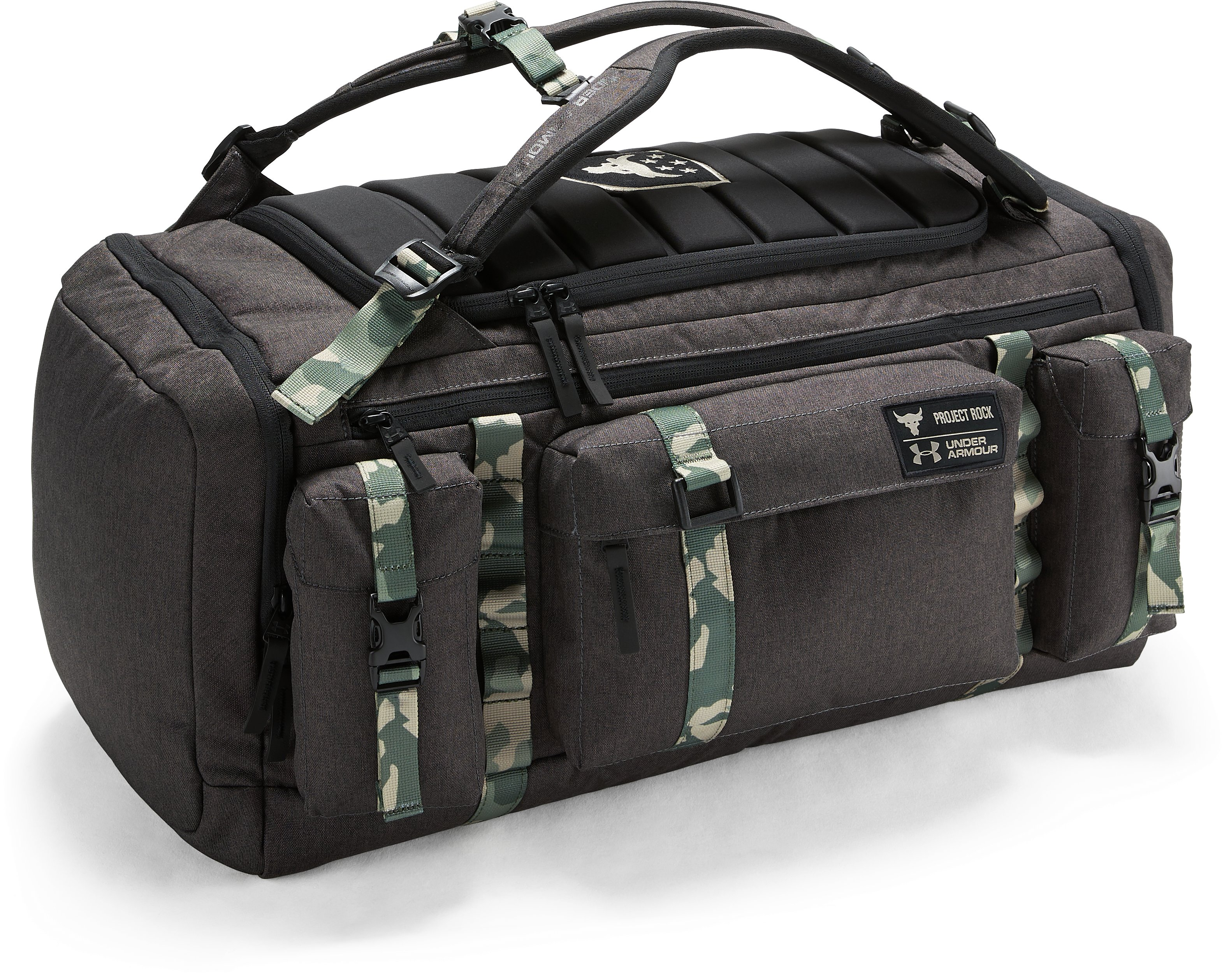 UA x Project Rock USDNA Range Duffle, Black