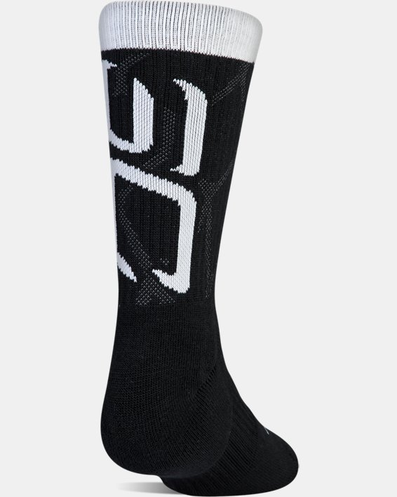 Boys SC30 Phenom 2.0 Crew Socks, Black, pdpMainDesktop image number 7