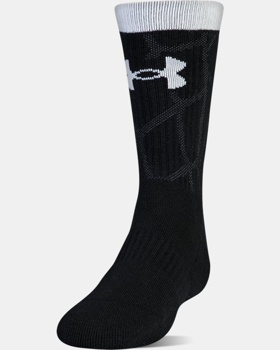 Boys SC30 Phenom 2.0 Crew Socks, Black, pdpMainDesktop image number 1