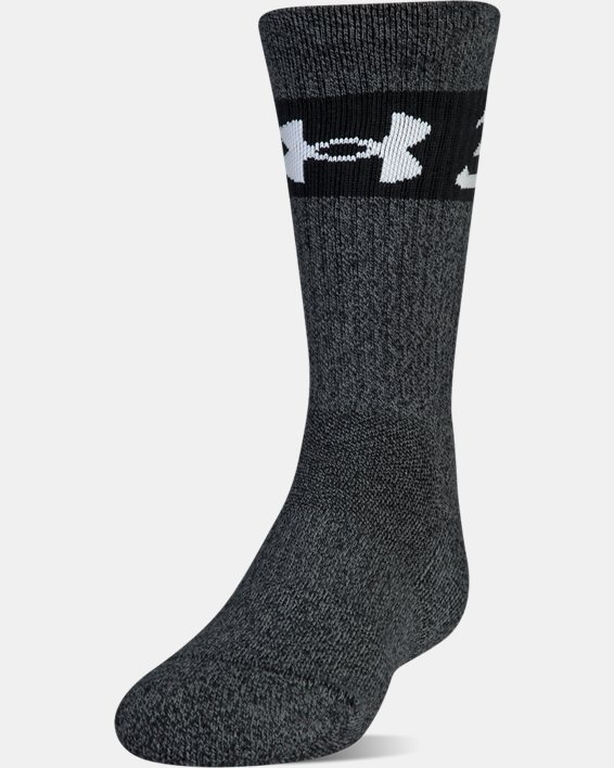 Boys SC30 Phenom 2.0 Crew Socks, Black, pdpMainDesktop image number 2