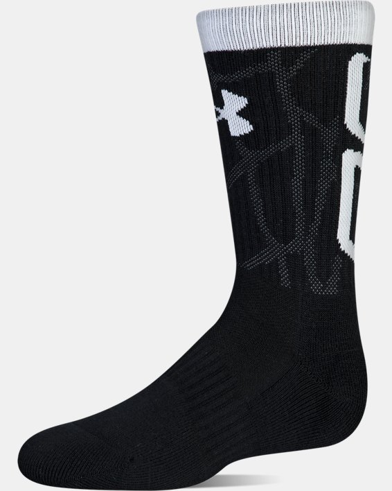 Boys SC30 Phenom 2.0 Crew Socks, Black, pdpMainDesktop image number 10