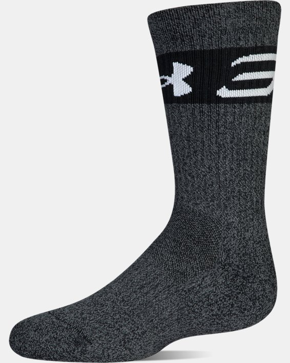 Boys SC30 Phenom 2.0 Crew Socks, Black, pdpMainDesktop image number 11