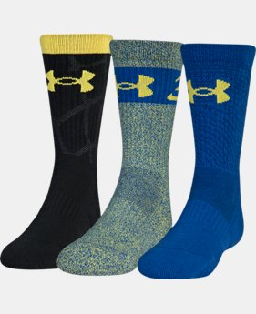 Boys SC30 Phenom 2.0 Crew Socks 3-Pack  1  Color Available $20