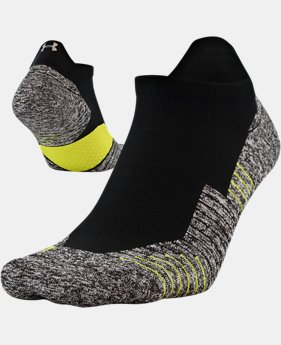 UA Run Cushion No Show Tab Running Socks  2  Colors Available $13
