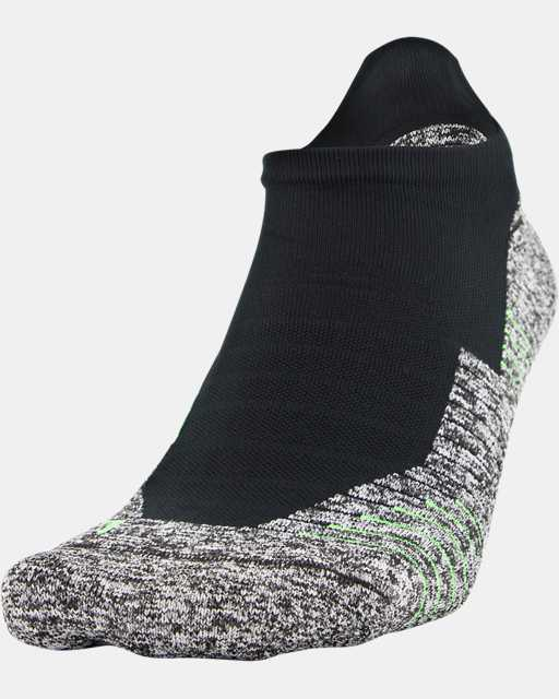 UA Run Cushion No Show Tab Running Socks