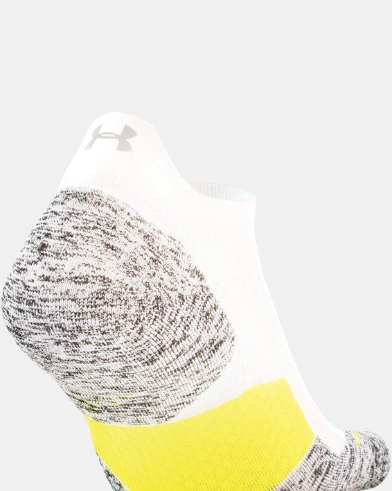 UA Run Cushion No Show Tab Running Socks, White, pdpMainDesktop image number 1