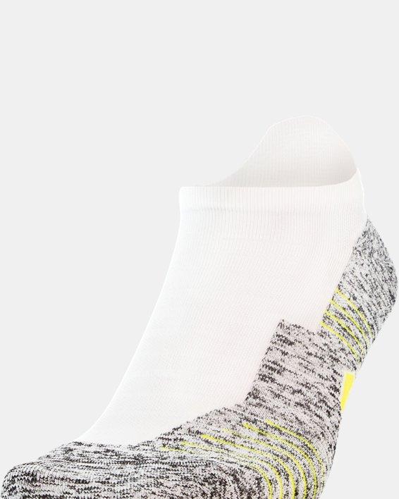 UA Run Cushion No Show Tab Running Socks, White, pdpMainDesktop image number 0