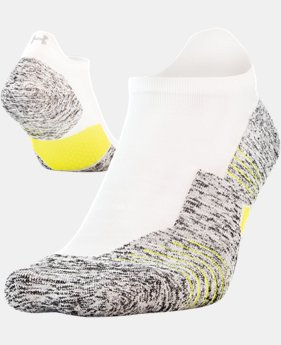UA Run Cushion No Show Tab Running Socks  2  Colors Available $15