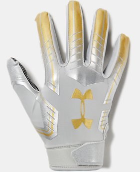 Men's UA F6 LE Football Gloves  4  Colors Available $40