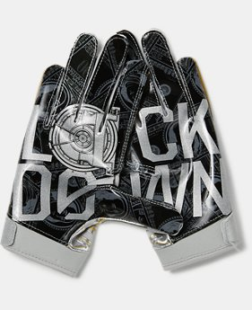 Boys' UA F6 LE Football Gloves  3  Colors Available $30