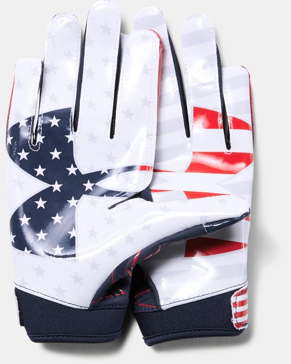 Boys' UA F6 LE Football Gloves, Navy, pdpMainDesktop image number 1