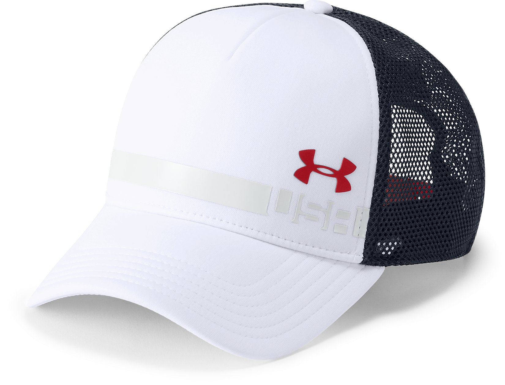 Men's UA Stars & Stripes Trucker Snapback, White,