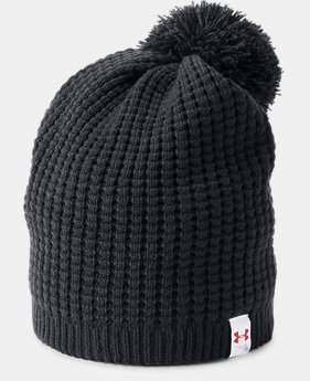 New to Outlet Women's UA Top Step Pom Beanie  1 Color $16.79