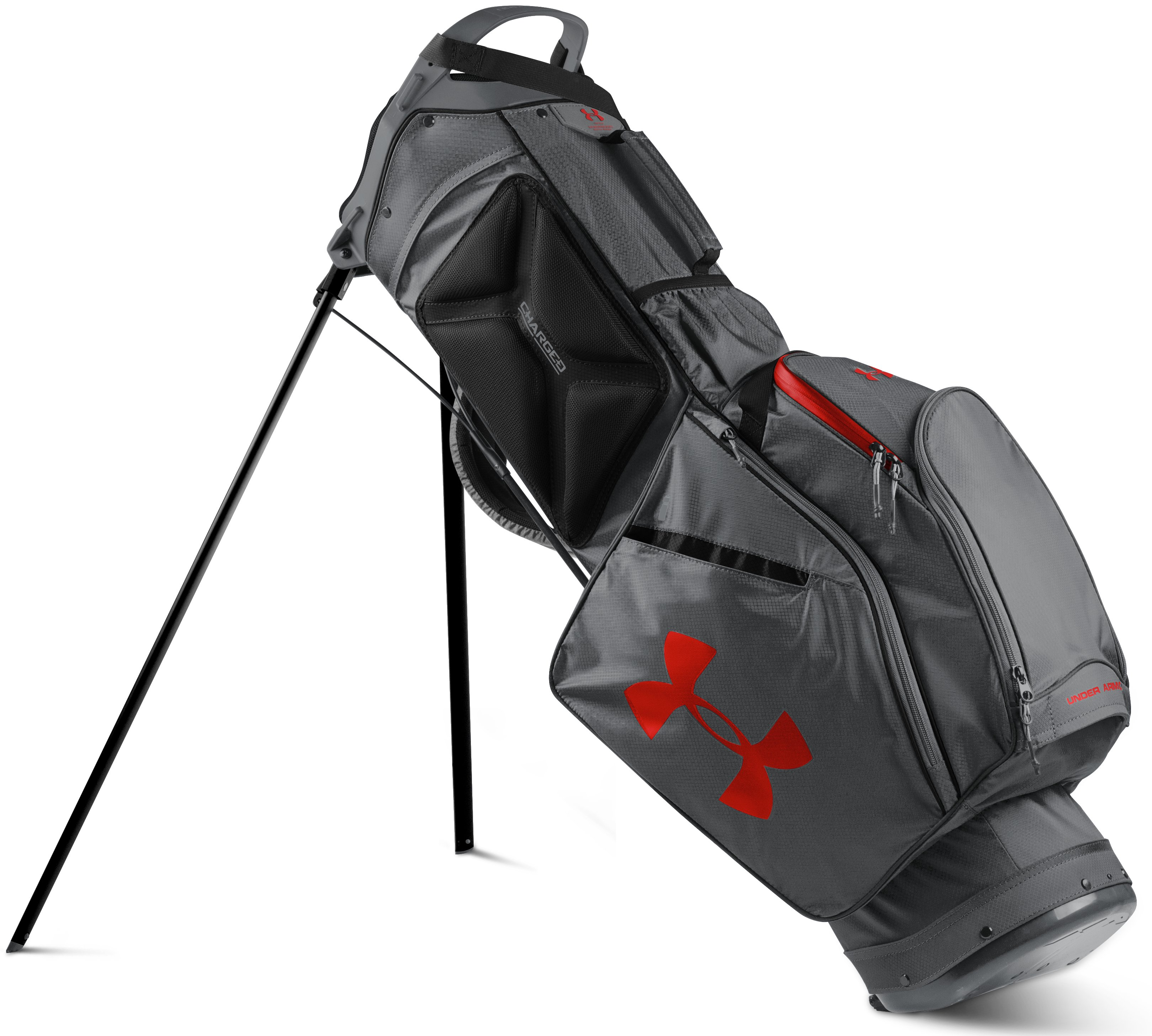 Men's UA Storm Speedround Golf Bag, Graphite, undefined