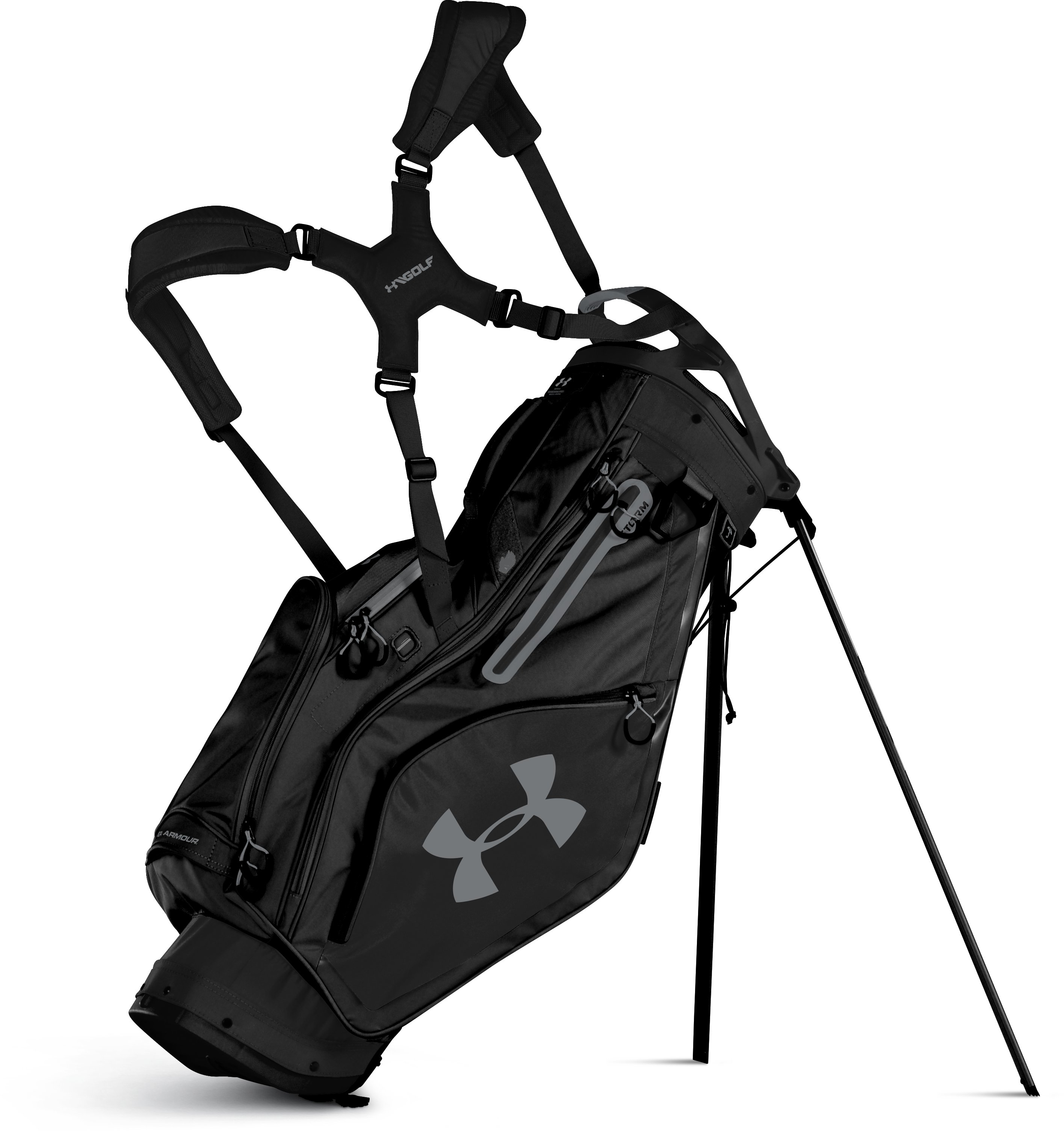 Men's UA Storm Match Play Stand Bag, Black ,