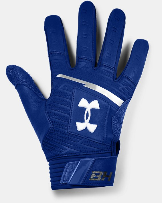 Men's UA Harper Pro Batting Gloves, Blue, pdpMainDesktop image number 0