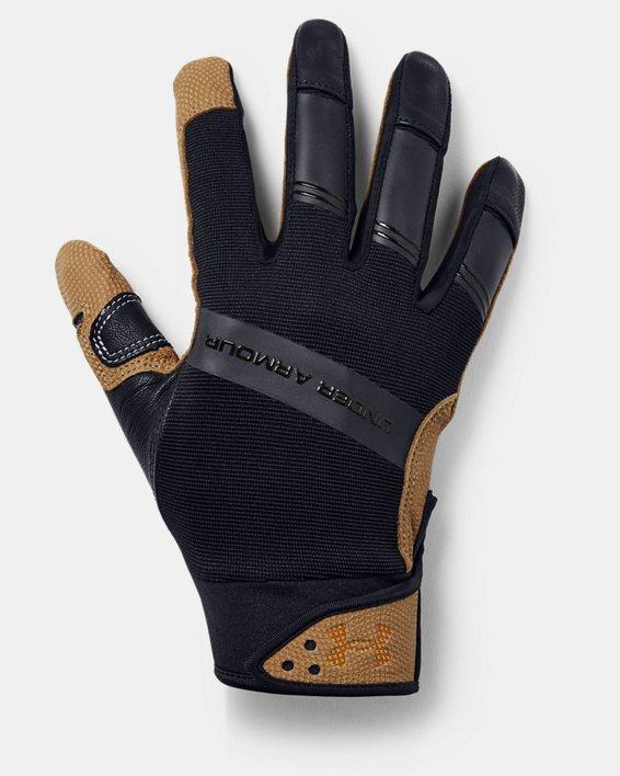 Men's UA Cage Batting Gloves, Black, pdpMainDesktop image number 0