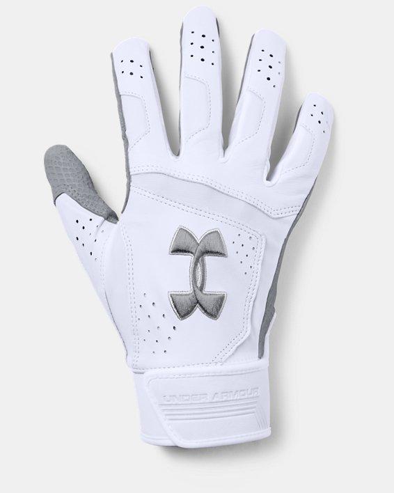 Men's UA Epic Batting Gloves, White, pdpMainDesktop image number 0