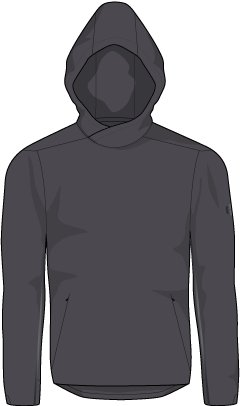 Men's Athlete Recovery Track Suit™ Elite Hoodie, Charcoal,