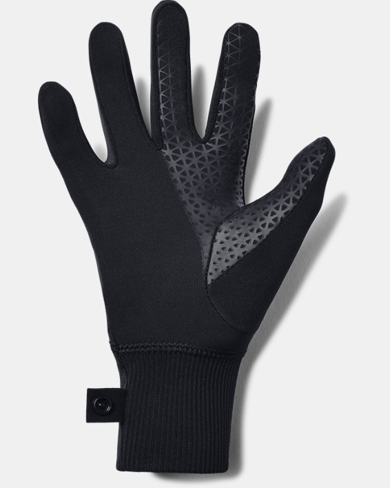 Girls' UA Fleece Liner Gloves, Black, pdpMainDesktop image number 1