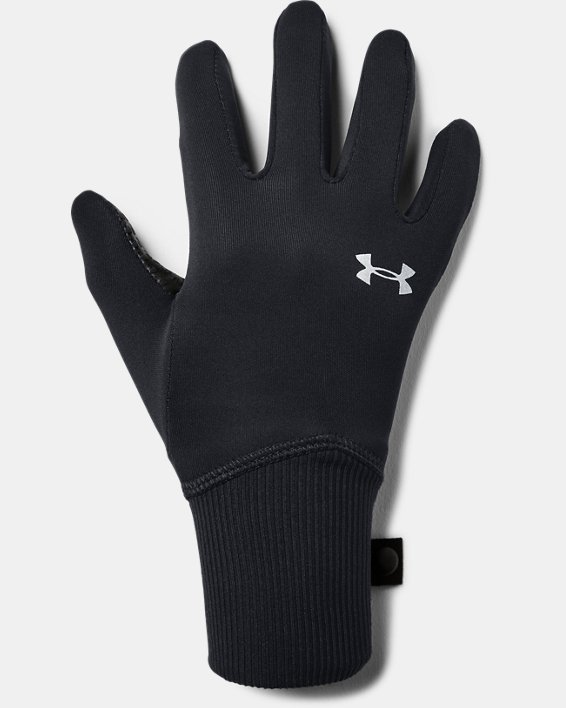 Girls' UA Fleece Liner Gloves, Black, pdpMainDesktop image number 0