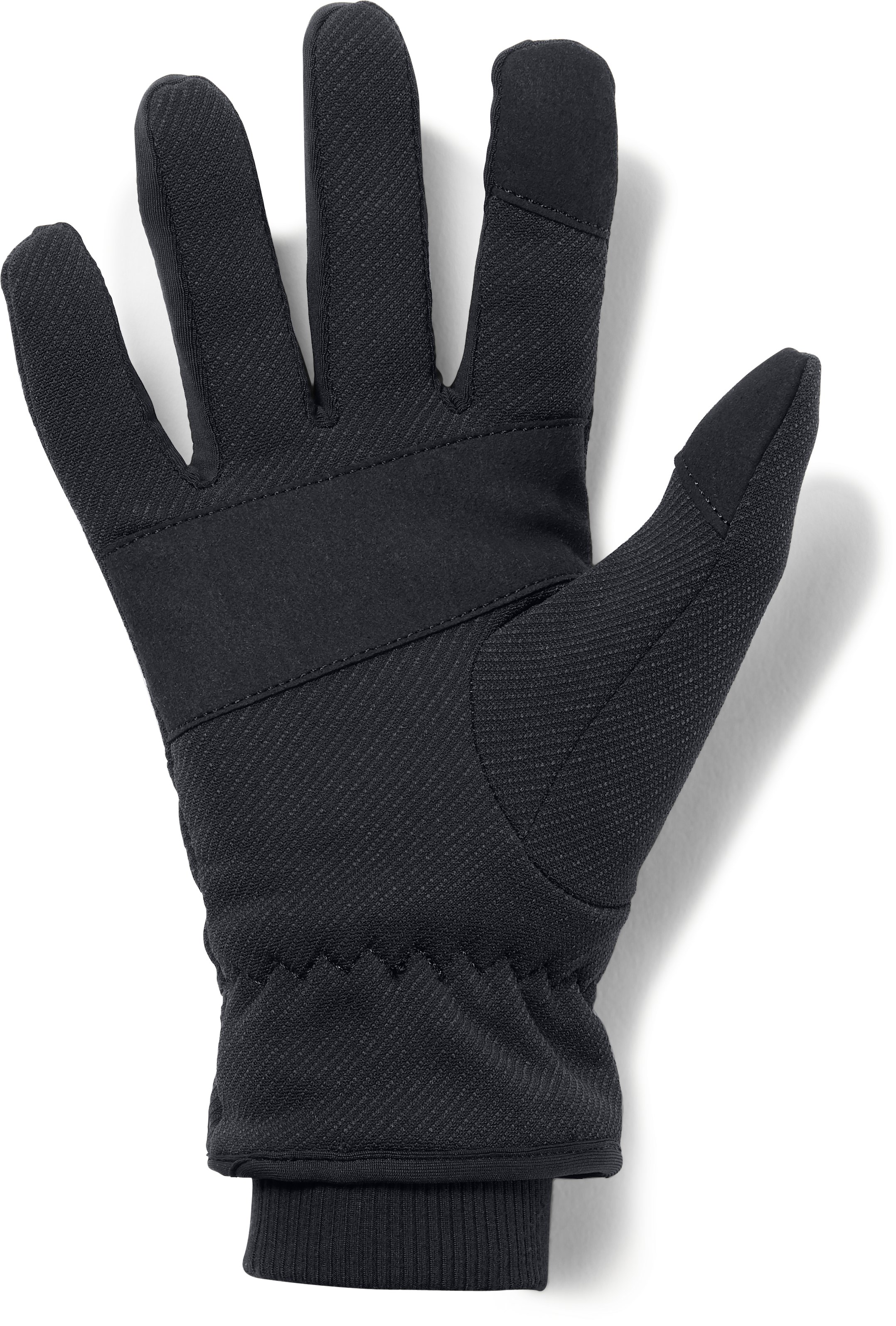Women's UA Storm Fleece Gloves, Black ,