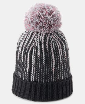 Girls' UA Infinity Pom Beanie  3  Colors Available $25