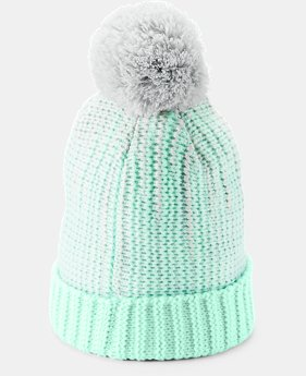 Girls' UA Infinity Pom Beanie  1  Color Available $25