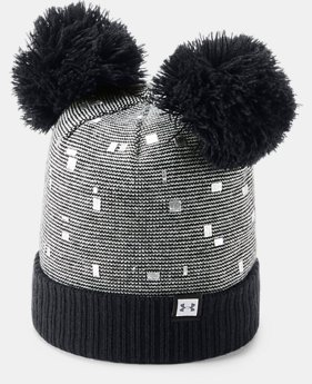 Girls' UA Double Pom Beanie  3  Colors Available $25