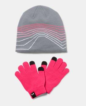 81747787fd25c Girls  UA Beanie   Glove Combo Set 1 Color Available  18.99