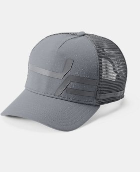 New Arrival Men's UA Macro Pro Fit Trucker Cap  1  Color Available $28