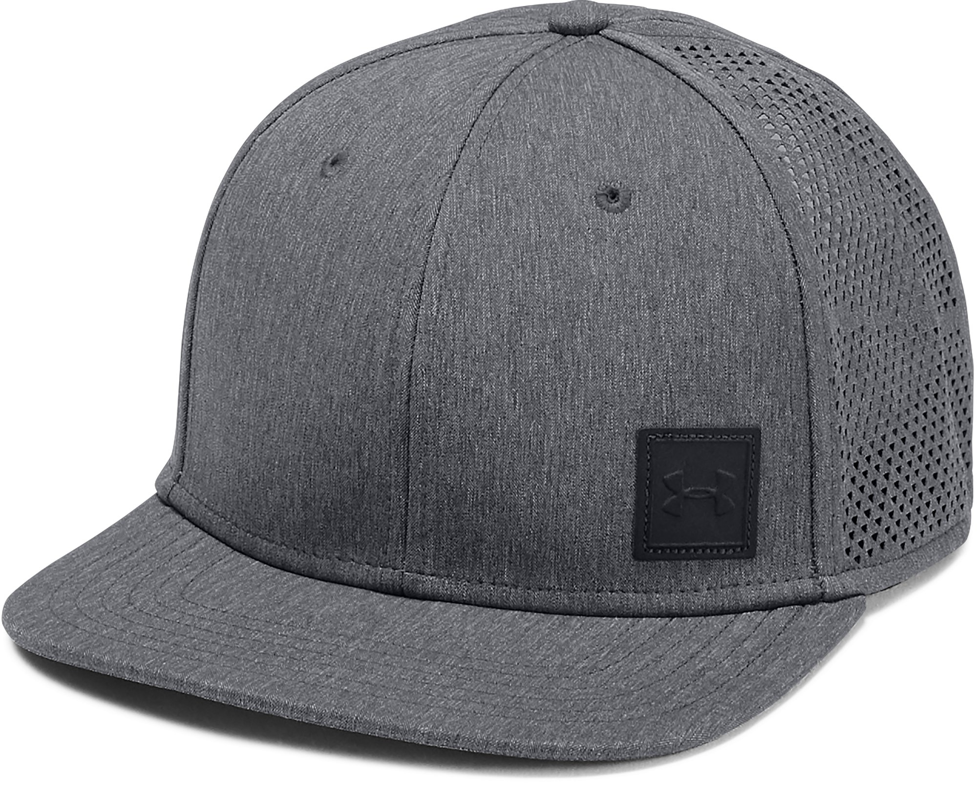 Men's UA SuperVent Flat Brim 2.0 Cap, Black ,