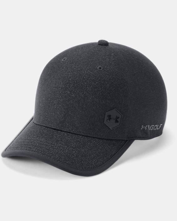 Men's UA Golf Jacquard One Panel Cap, Black, pdpMainDesktop image number 0