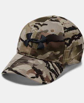 Men's UA Camo Stretch Fit Cap Updated  3  Colors Available $30