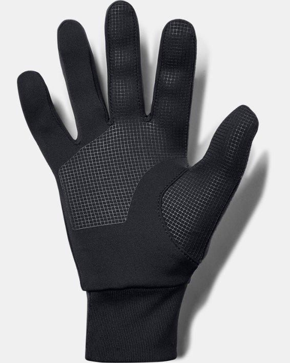 Men's UA Storm Run Liner Gloves, Black, pdpMainDesktop image number 1
